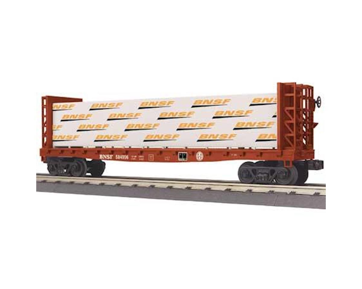 MTH Trains O-27 Bulkhead Flat w/Lumber Load, BNSF