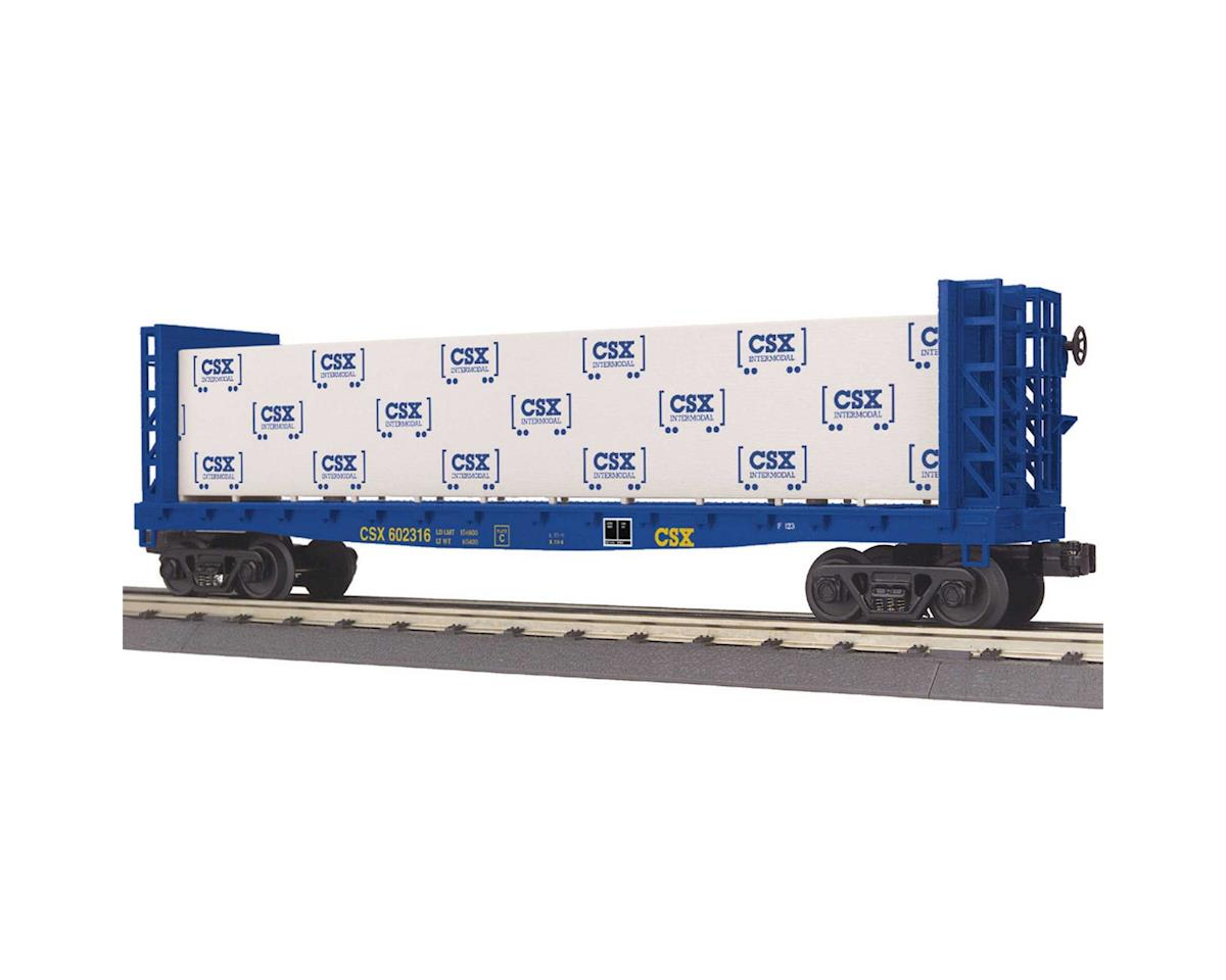 MTH Trains O-27 Bulkhead Flat w/Lumber Load, CSX