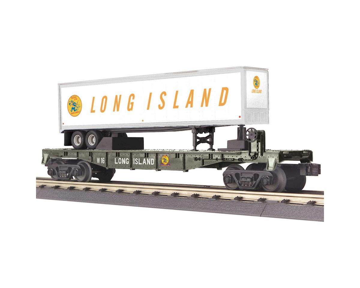 MTH Trains O-27 Flat w/40' Trailer, LIRR