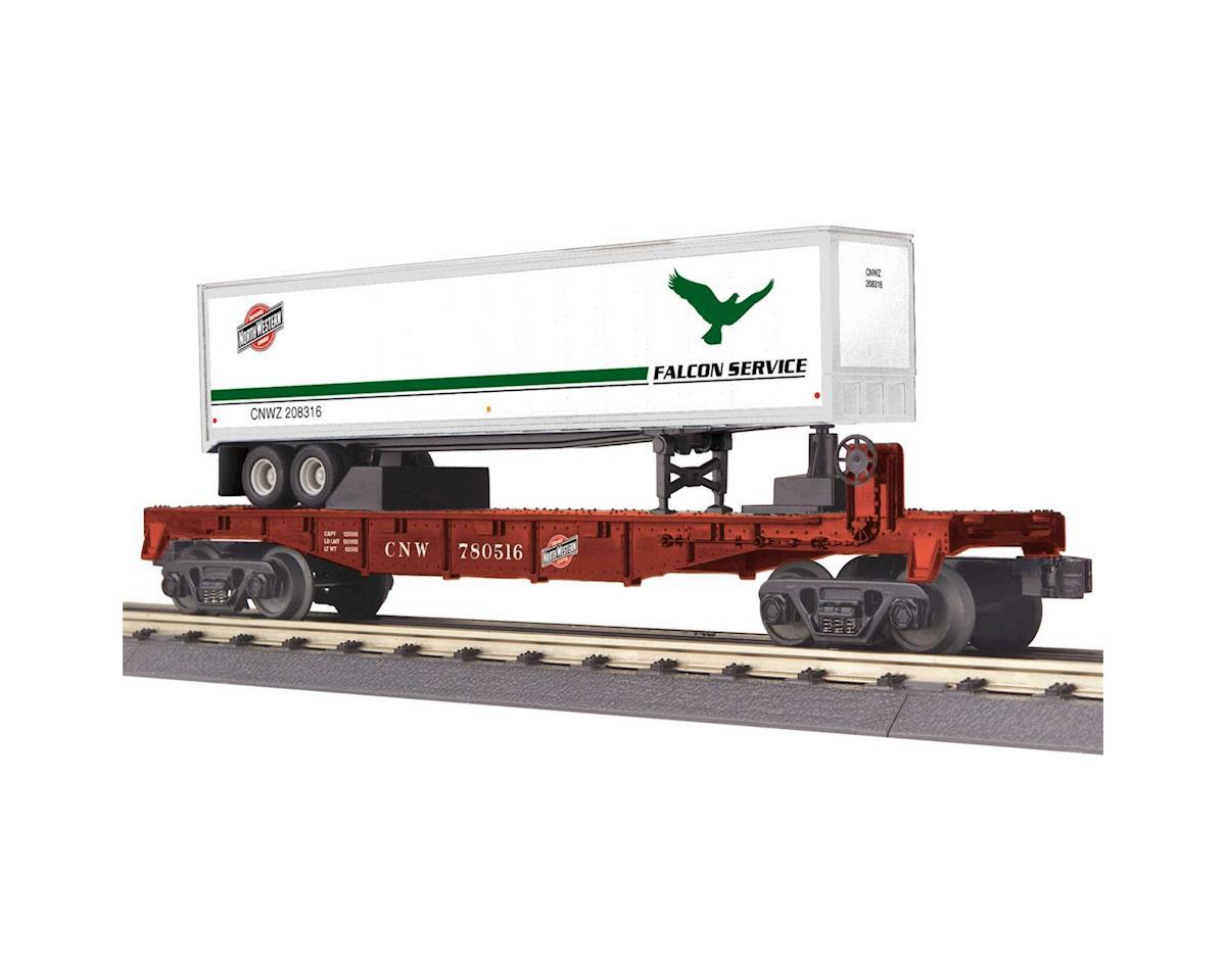 MTH Trains O-27 Flat w/40' Trailer, C&NW