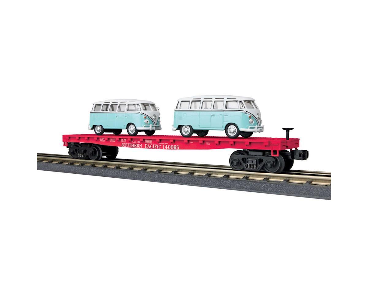 MTH Trains O-27 Flat w/2 'VW Bus, SP