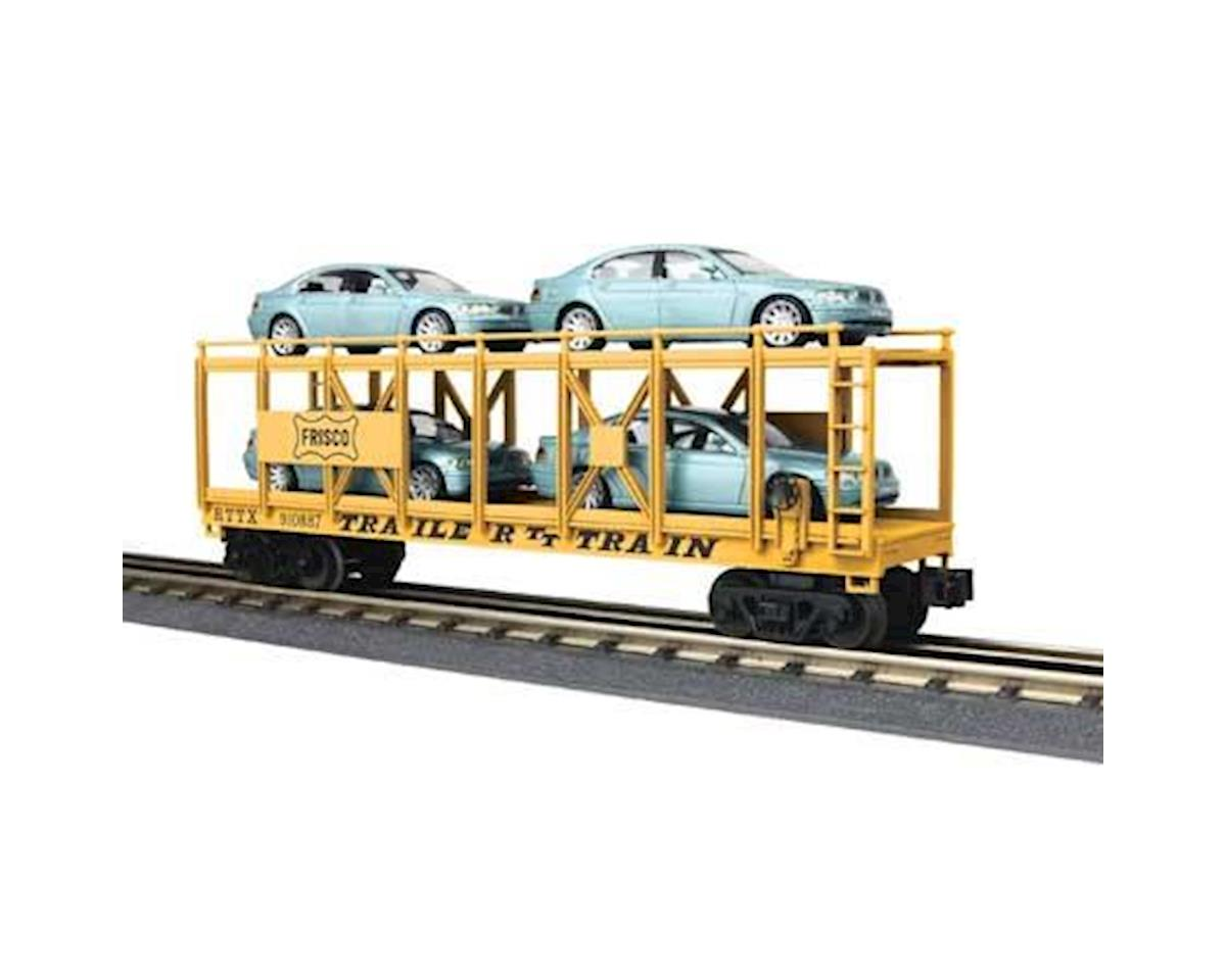MTH Trains O-27 Auto Carrier Flat w/4 BMW Sedans, Frisco