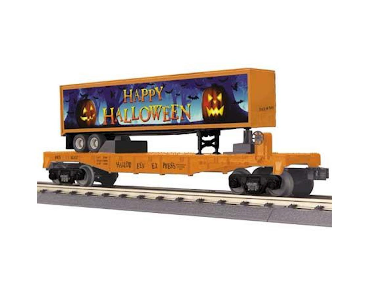 MTH Trains O-27 Flat w/40' Trailer, Halloween