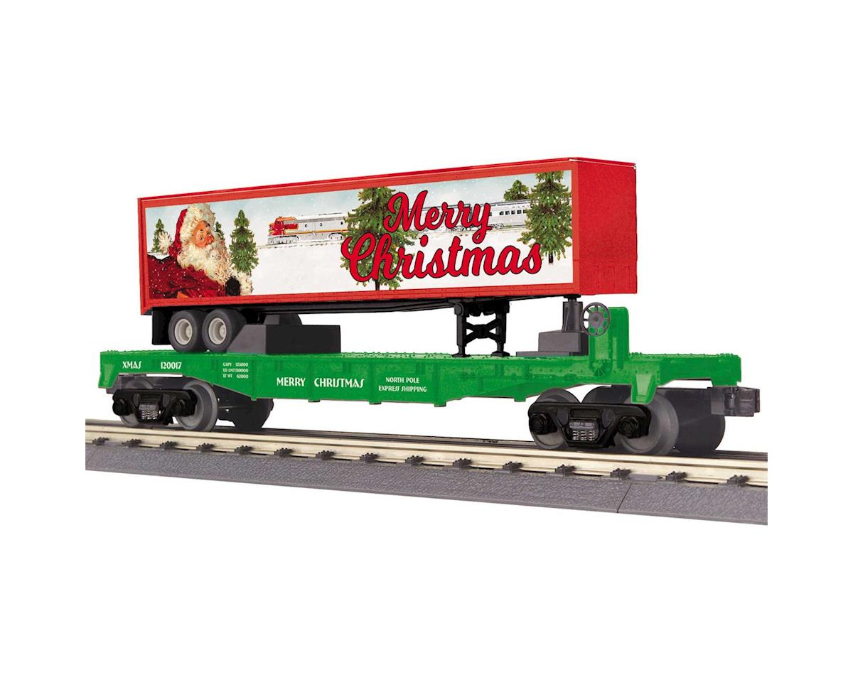MTH Trains O-27 Flat w/40' Trailer, Christmas