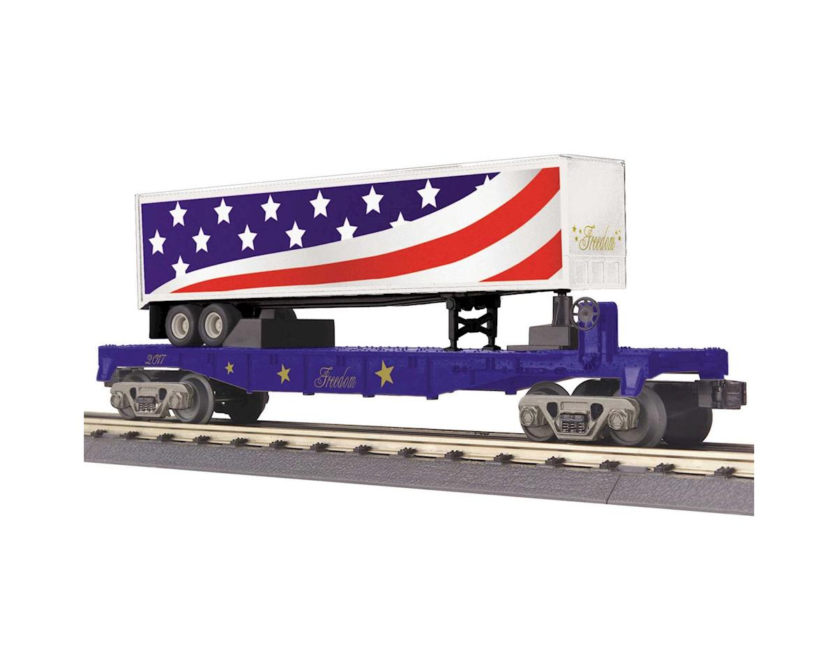 O-27 Flat w/40' Trailer, Freedom by MTH Trains