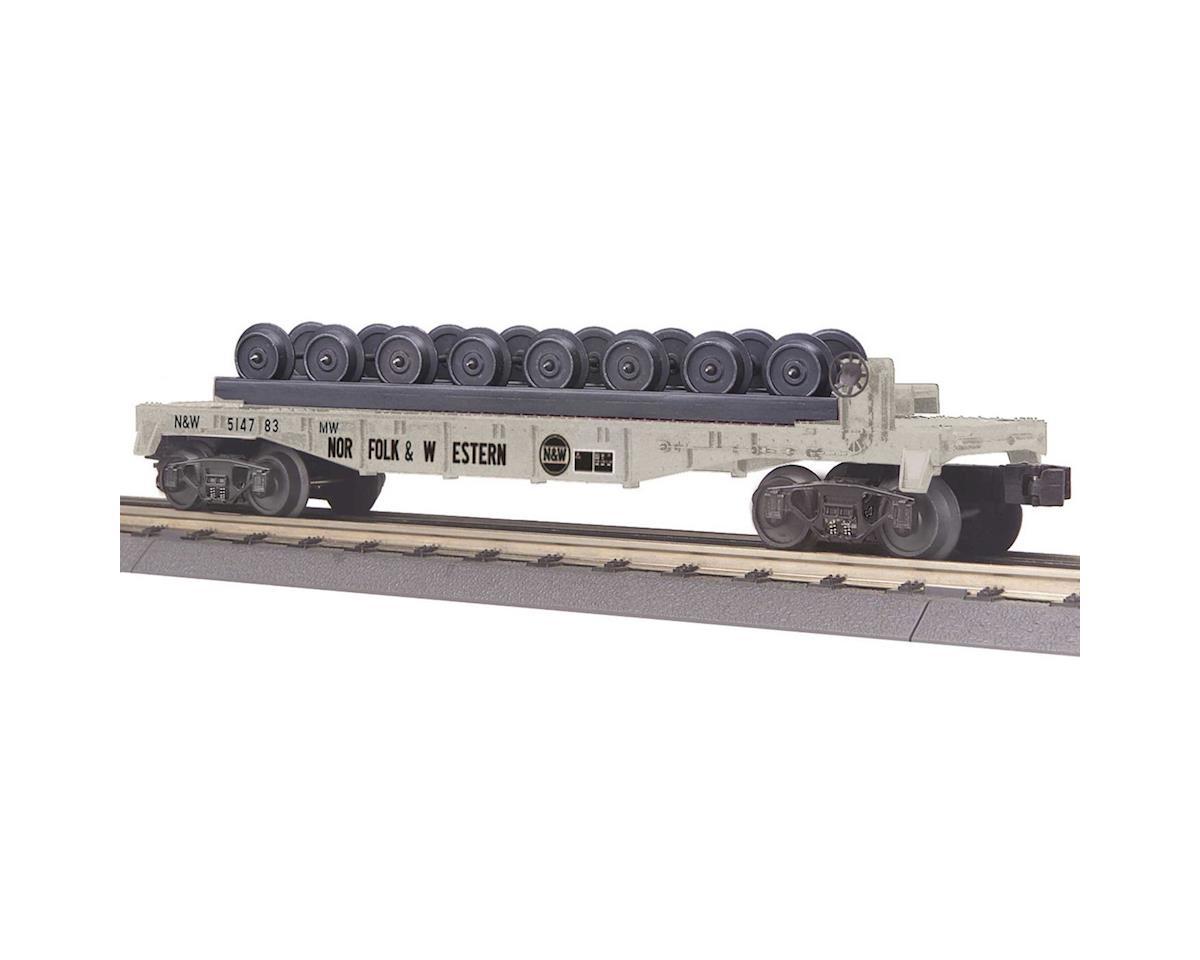 MTH Trains O-27 Flat w/Wheel Set, N&W