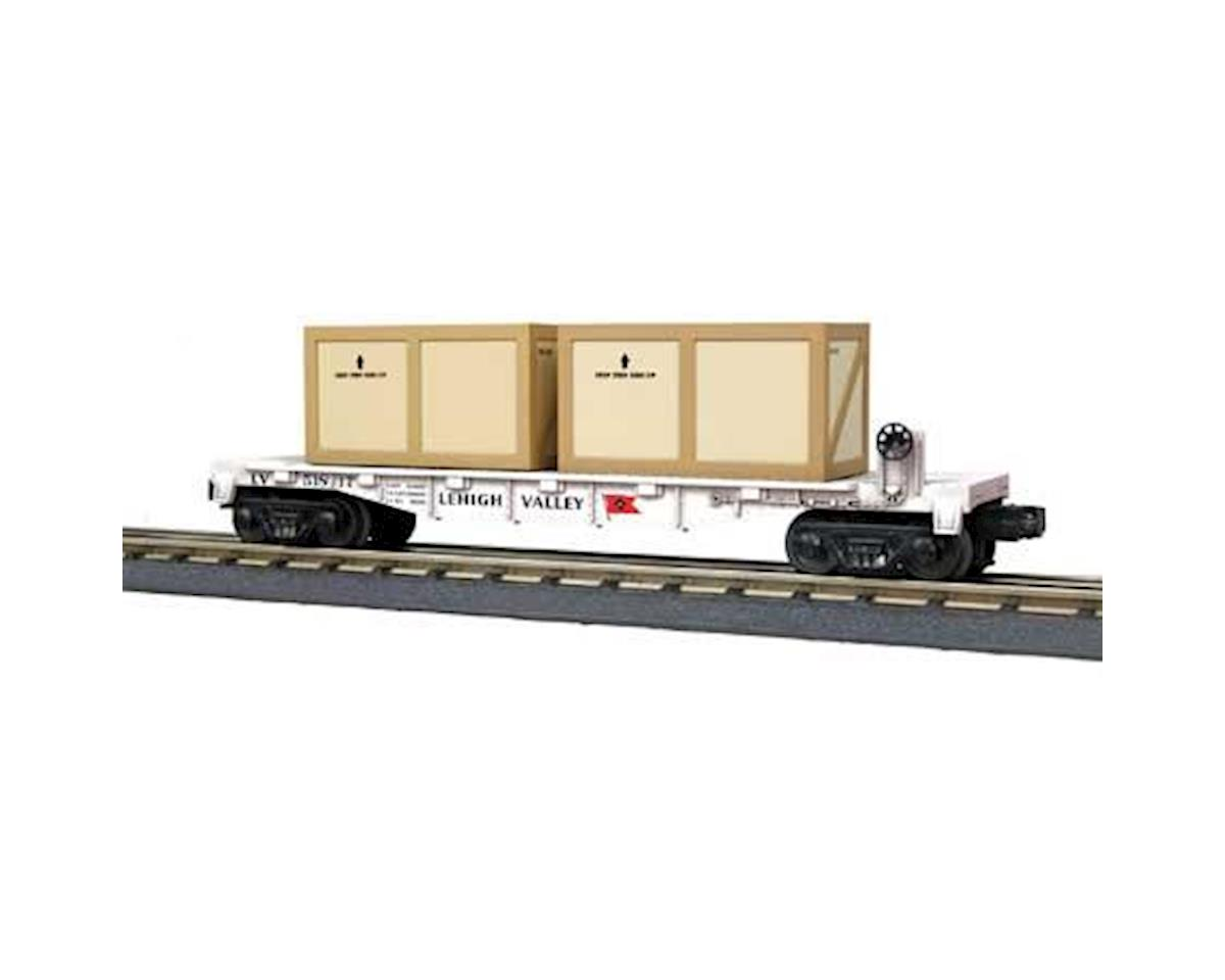 O-27 Flat w/2 Crates, LV by MTH Trains