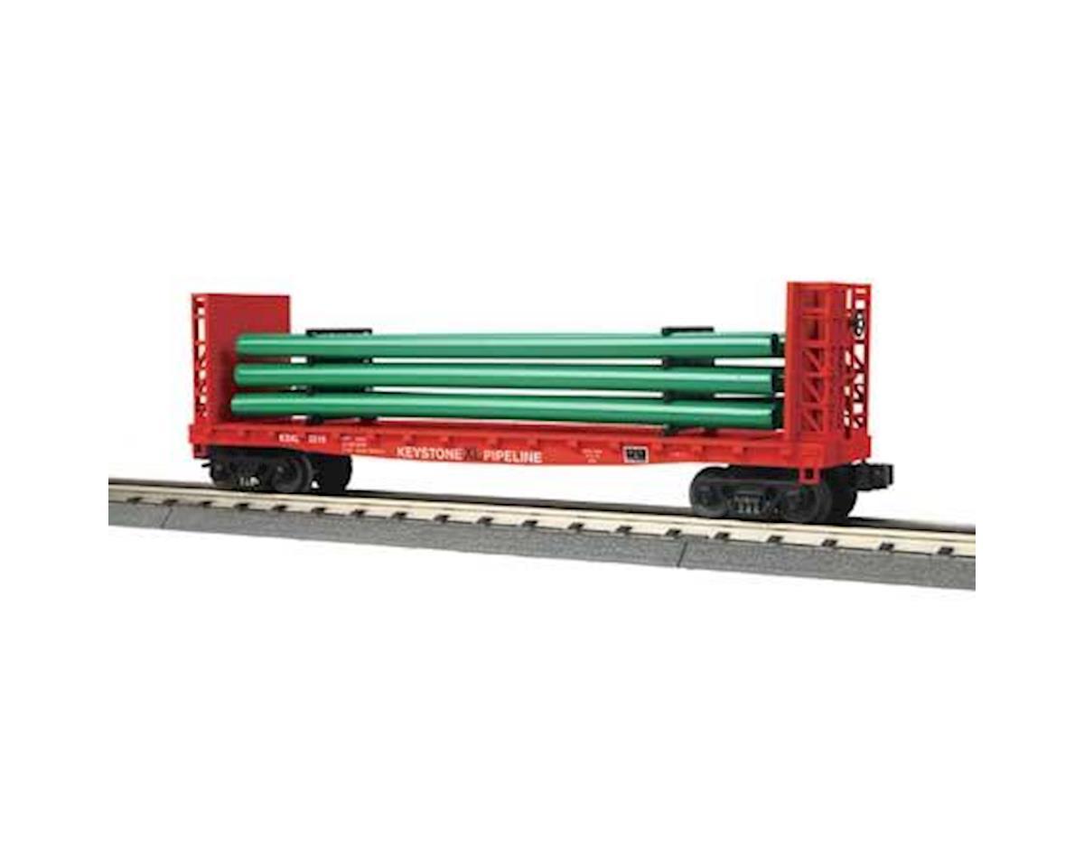 MTH Trains O-27 Flat w/Load, Keystone XL Pipeline #2018