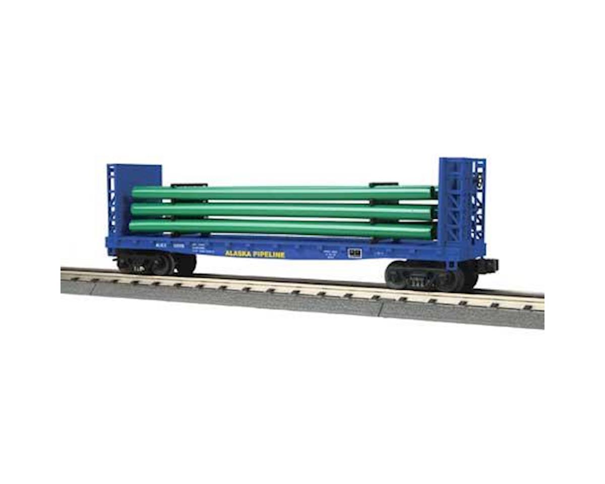 MTH Trains O-27 Flat w/Load, Alaska Pipeline #50018