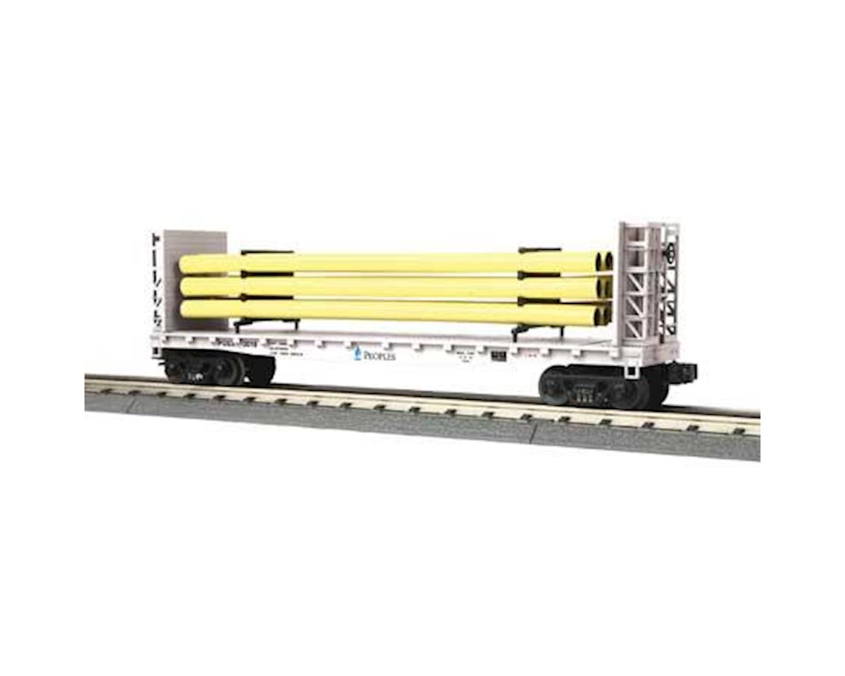 MTH Trains O-27 Flat w/Load, Peoples Gas #2018