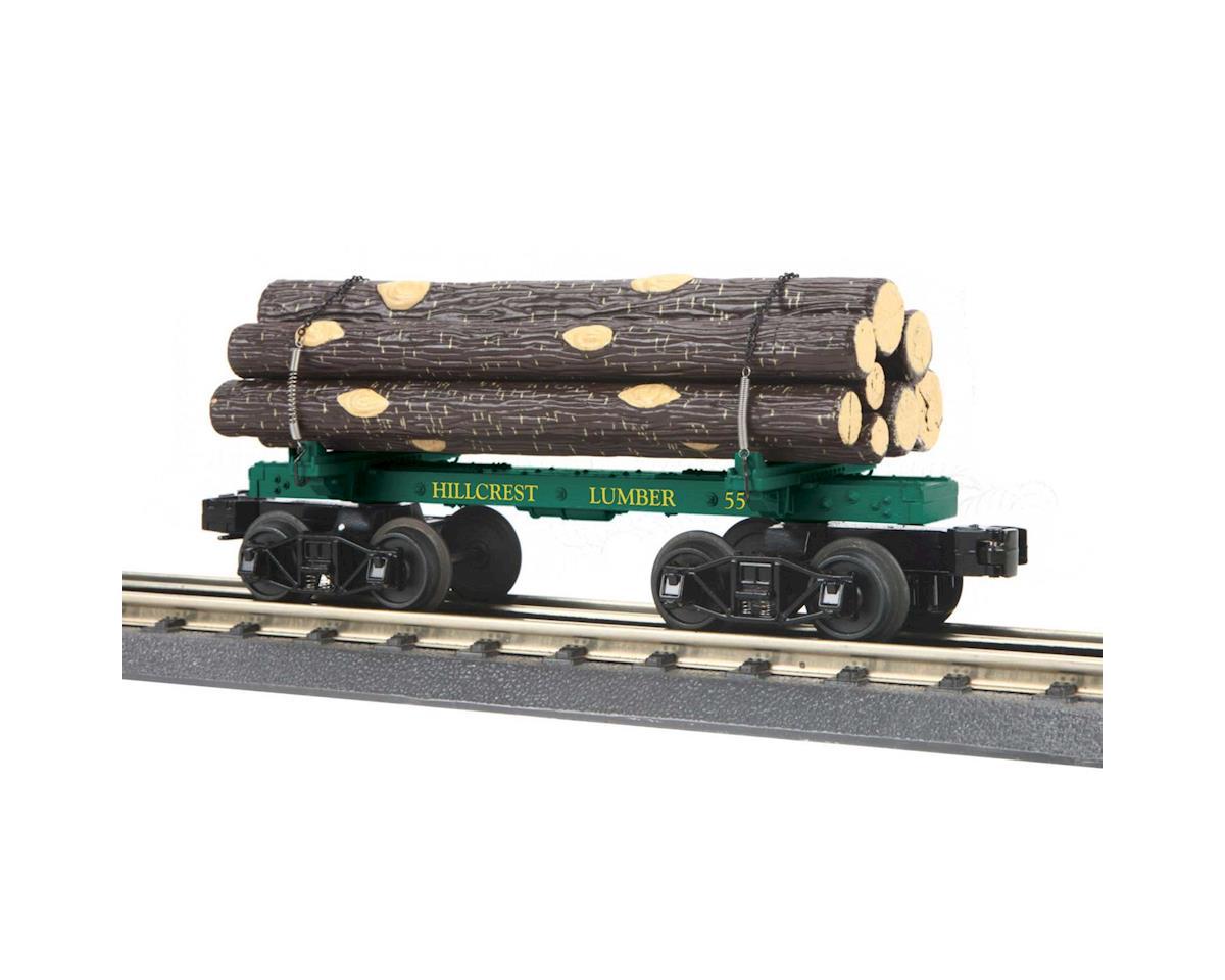 MTH Trains O-27 Old Time Flat w/Log Load, Hillcrest #55