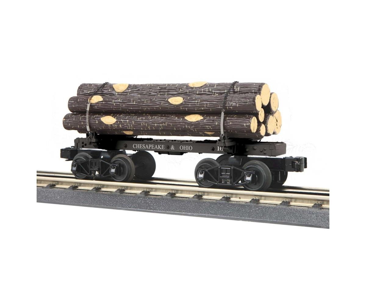 MTH Trains O-27 Old Time Flat w/Log Load, C&O #168