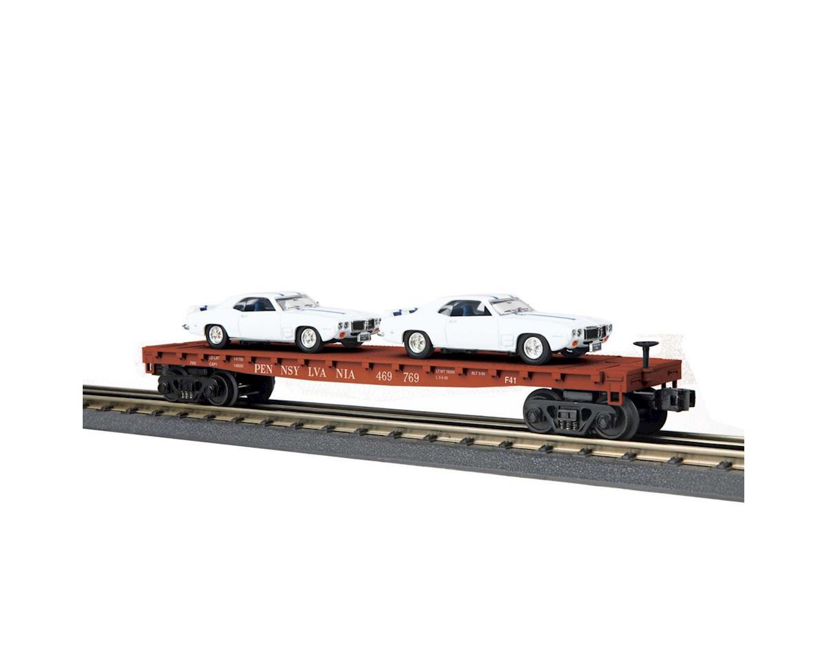 MTH Trains O-27 Flat w/2 '69 Pontiac Firebird, PRR #469769