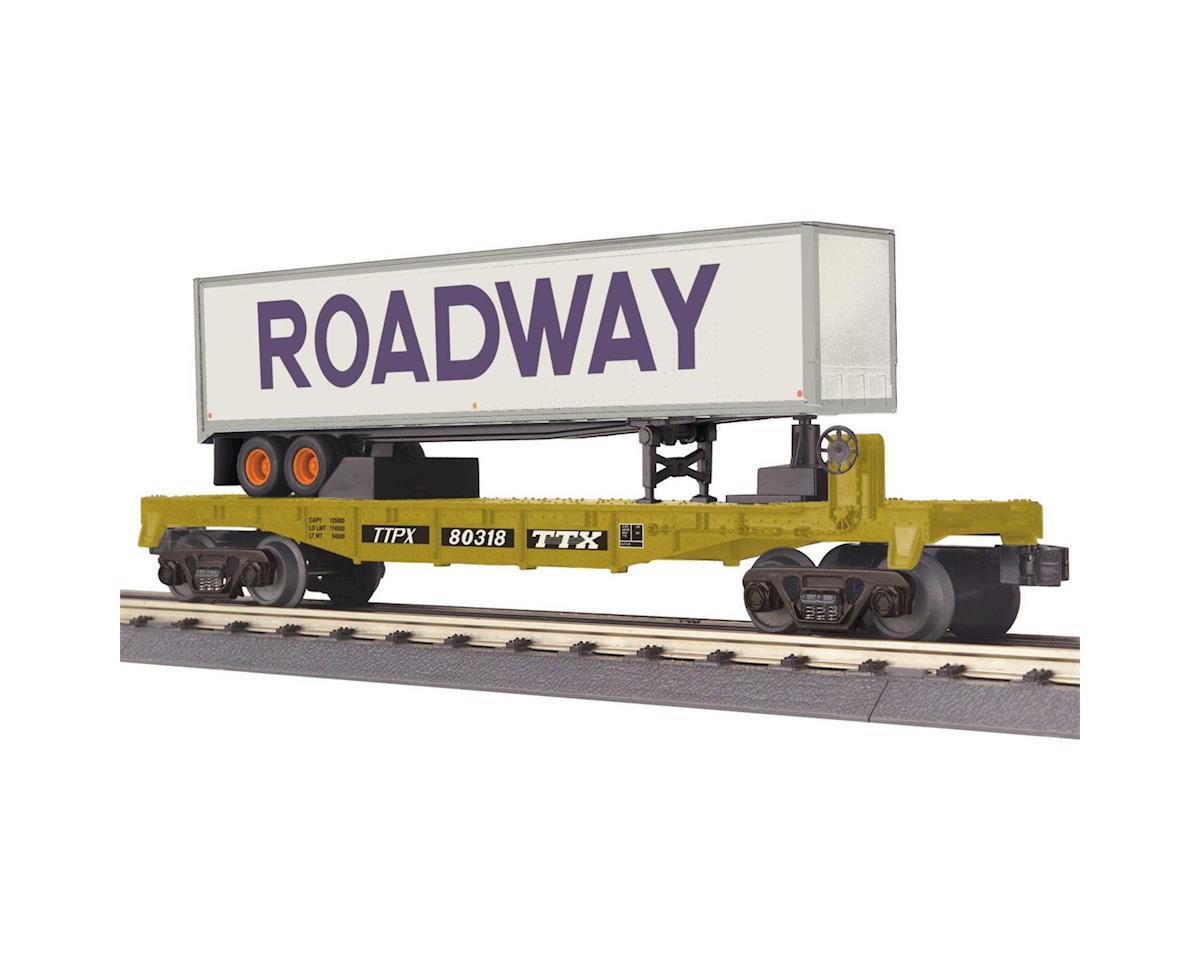 MTH Trains O-27 Flat W/40' Trailer, TTX #80318