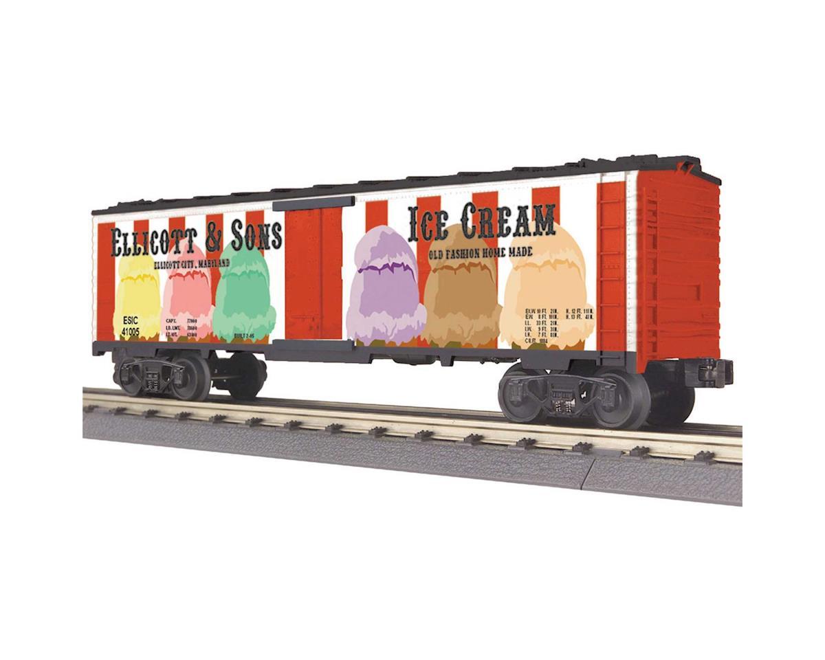 MTH Trains O-27 Modern Reefer, Ellicott & Sons Ice Cream