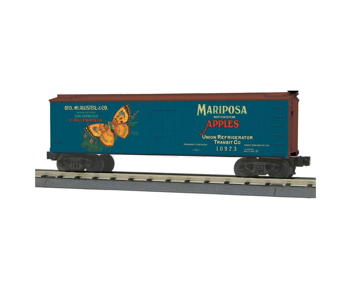 MTH Trains O-27 40' Wood Reefer, Mariposa Apples