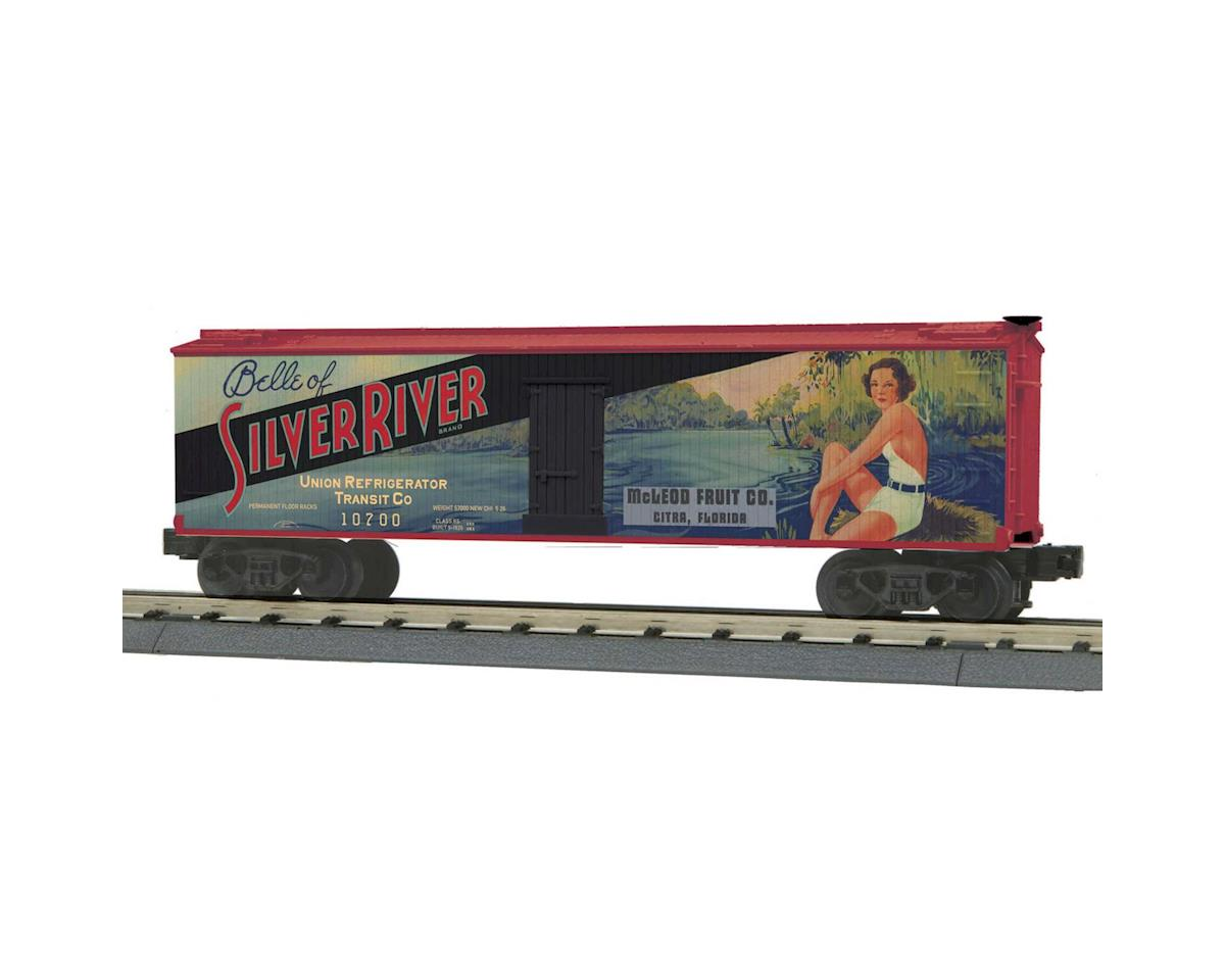 MTH Trains O-27 40' Wood Reefer, Silver River Fruit
