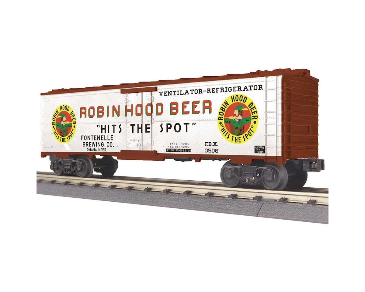 MTH Trains O-27 Modern Reefer, Robin Hood Beer #3506