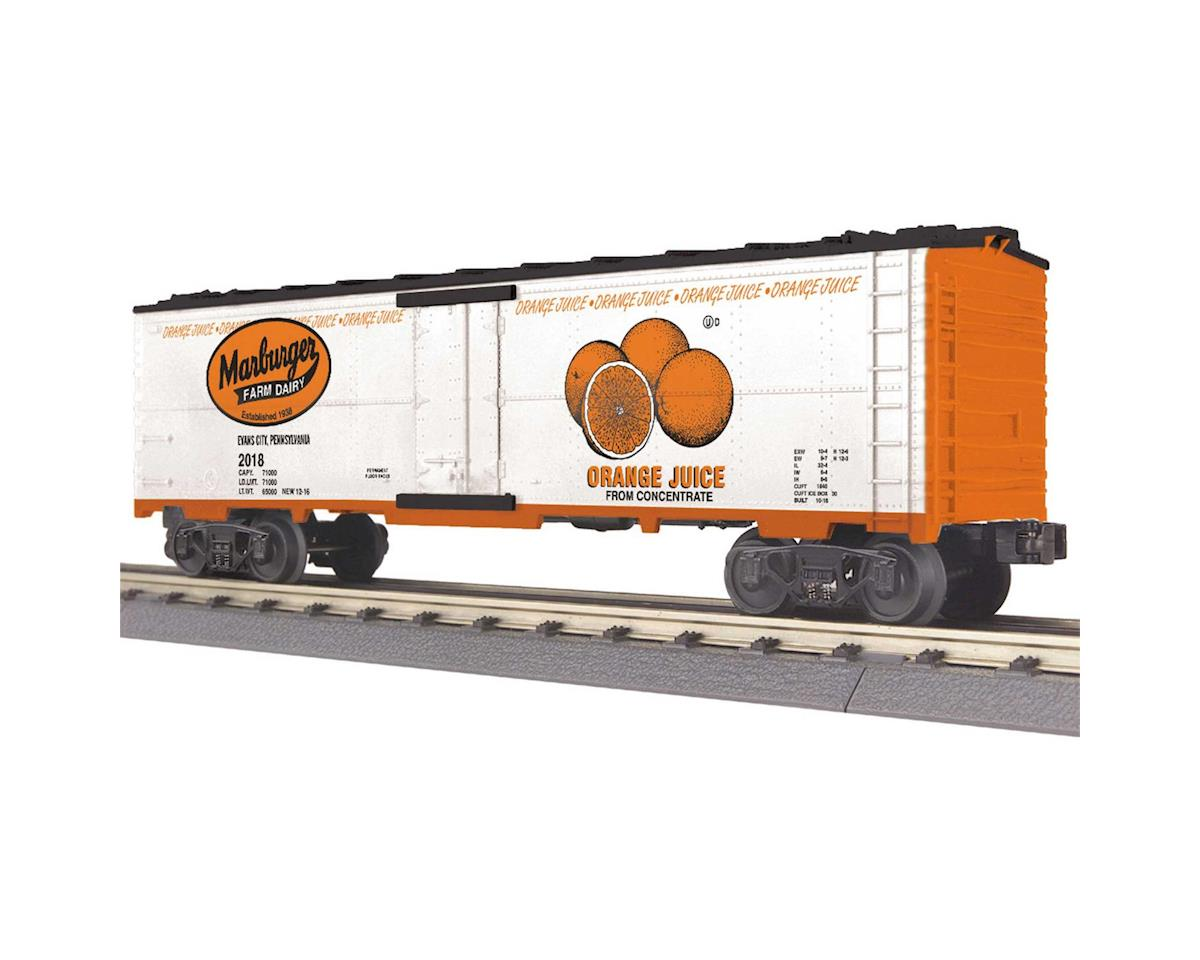 MTH Trains O-27 Modern Reefer, Marburger Dairy Orange Juice