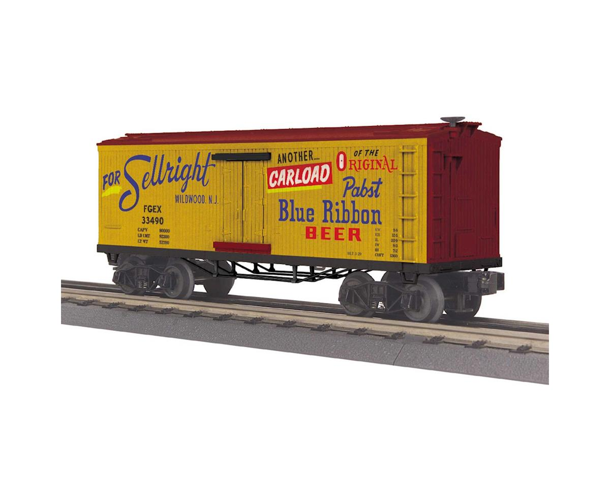 MTH Trains O-27 Old Time Reefer, Pabst Blue Ribbon