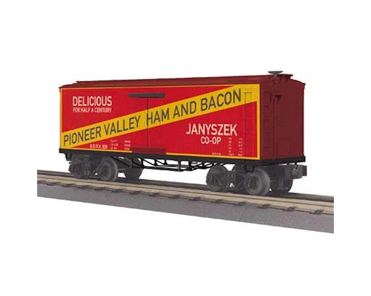 O-27 OT Reefer, Pioneer Valley Ham and Bacon #800 by MTH Trains