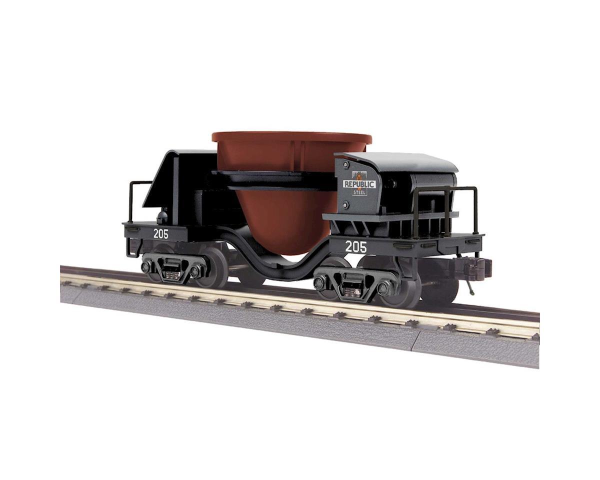 MTH Trains O-27 Slag Car, Republic Steel #205