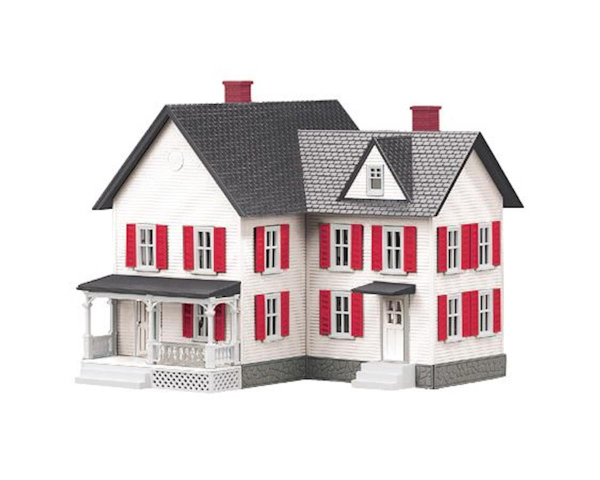 MTH Trains O #6 Farm House, White/Red
