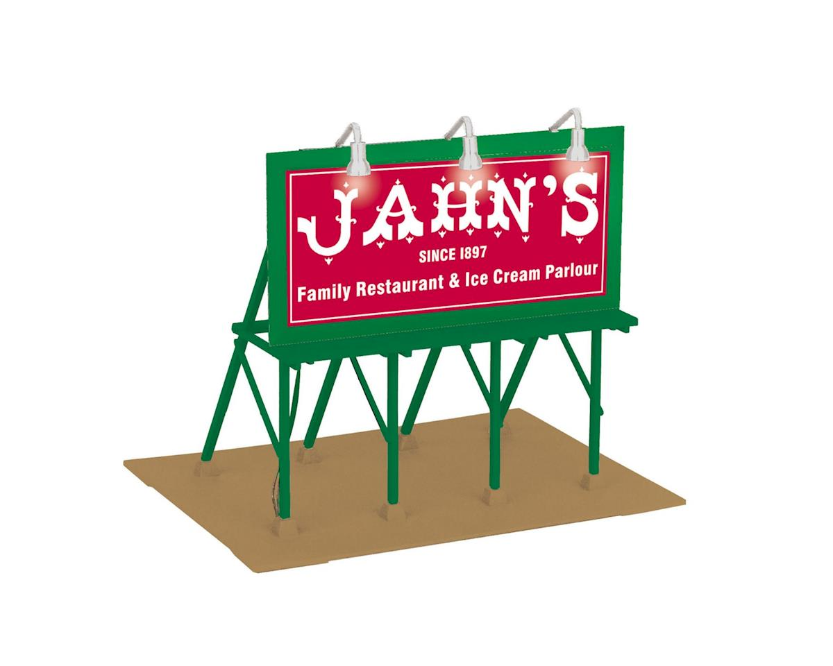 MTH Trains O Lighted Billboard, Jahn's Ice Cream