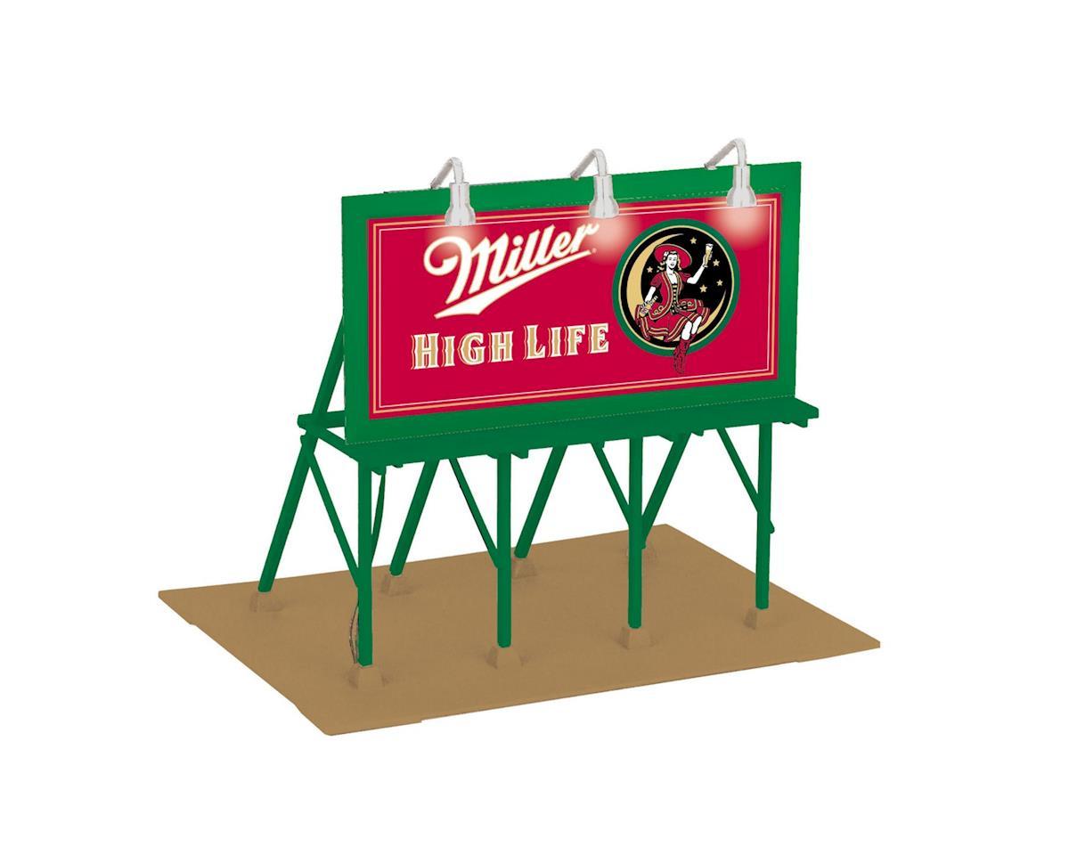 MTH Trains O Lighted Billboard, Miller High Life