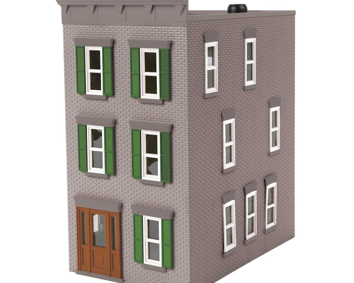 MTH Trains O 3-Story Town House #2, Gray/Green