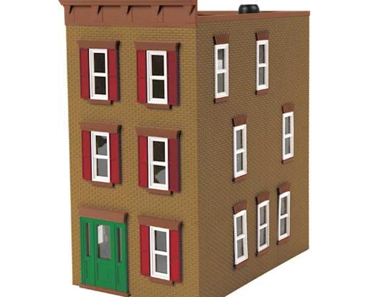 O 3-Story Town House #2, Tan/Red by MTH Trains