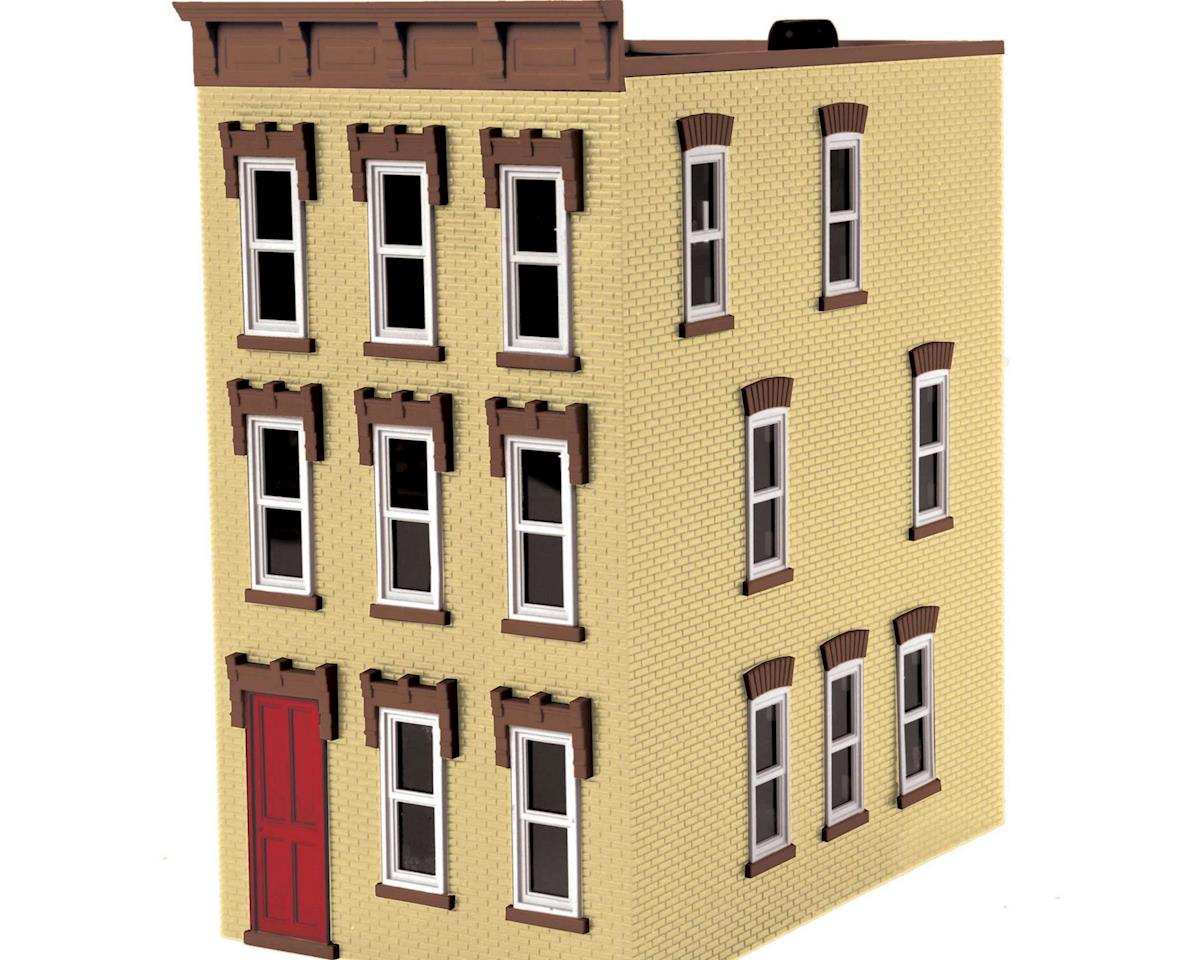 MTH Trains O 3-Story Town House #3, Cream/Brown