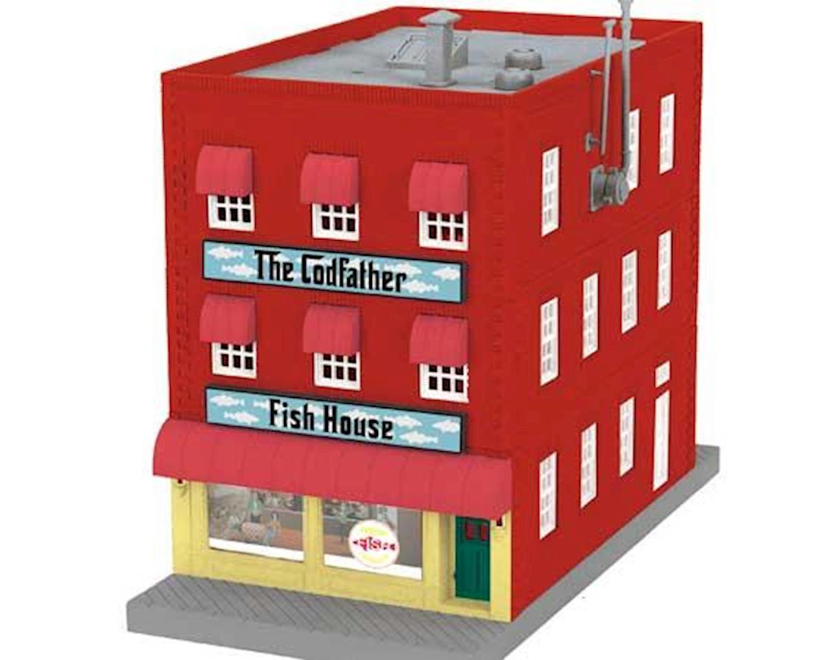 MTH Trains O 3-Story Building, The Codfather Fish House