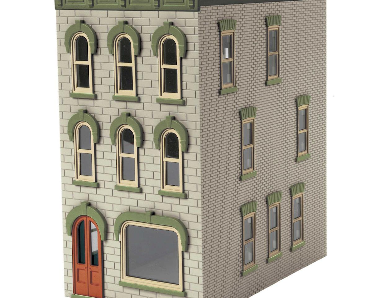 MTH Trains O 3-Story Town House #1, Light Gray
