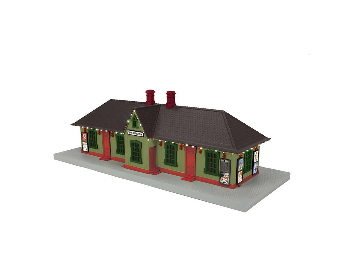 MTH Trains O Passenger Station w/Operating Christmas Lights