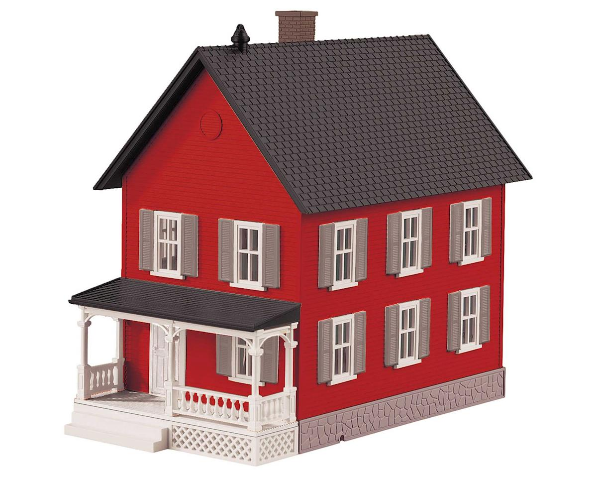 O Row House #2, Red & Gray by MTH Trains