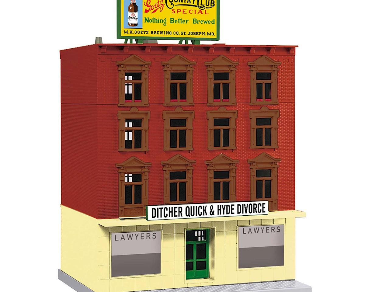 MTH Trains O 4-Story Building, Ditcher Quick & Hyde Divorce