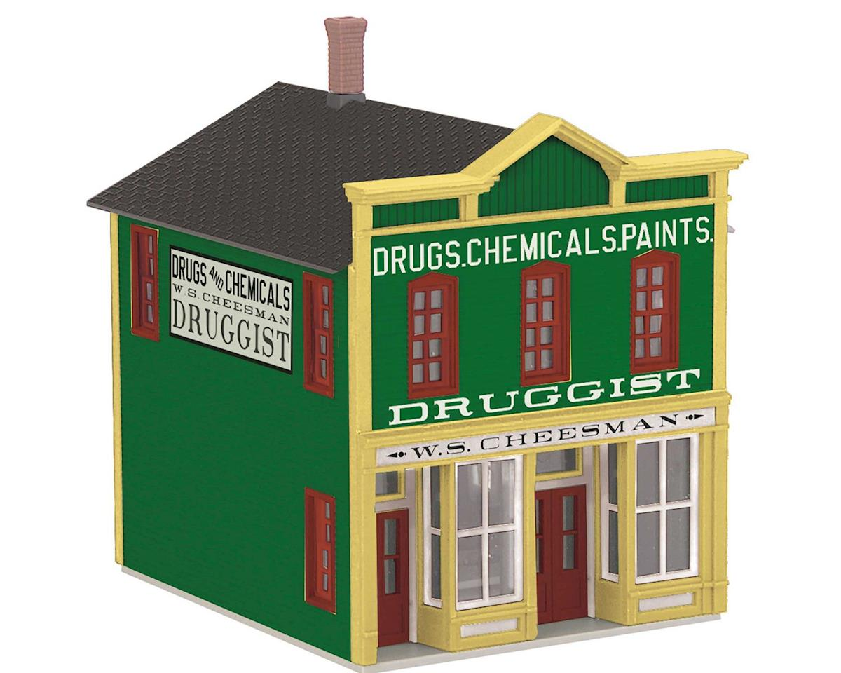 O 2-Story Hotel Building, Druggist by MTH Trains
