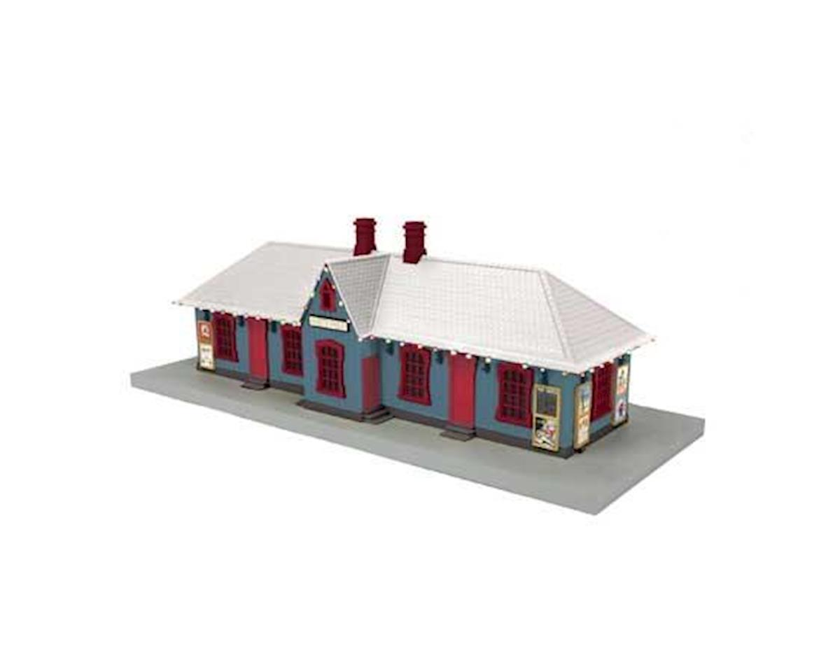 MTH Trains O Country Passenger Station, North Pole w/Lights