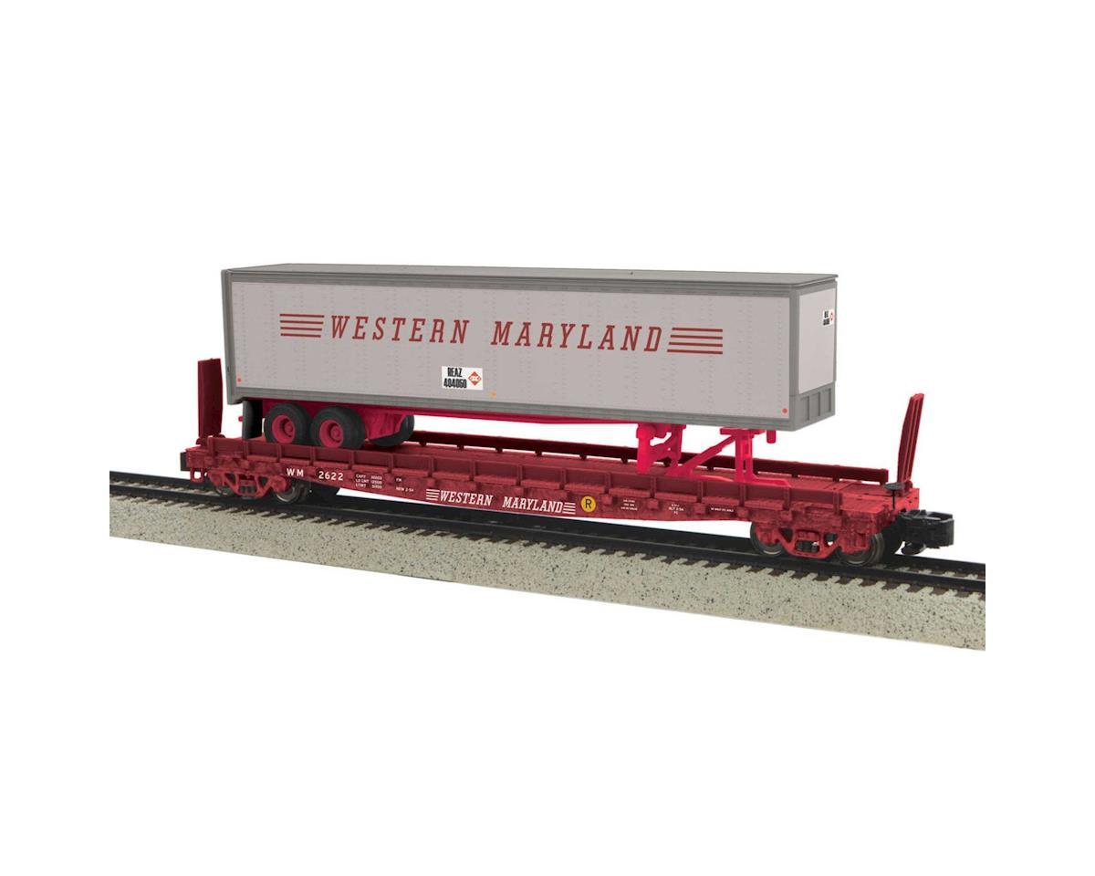 MTH Trains S Flat w/48' Trailer, WM #2622