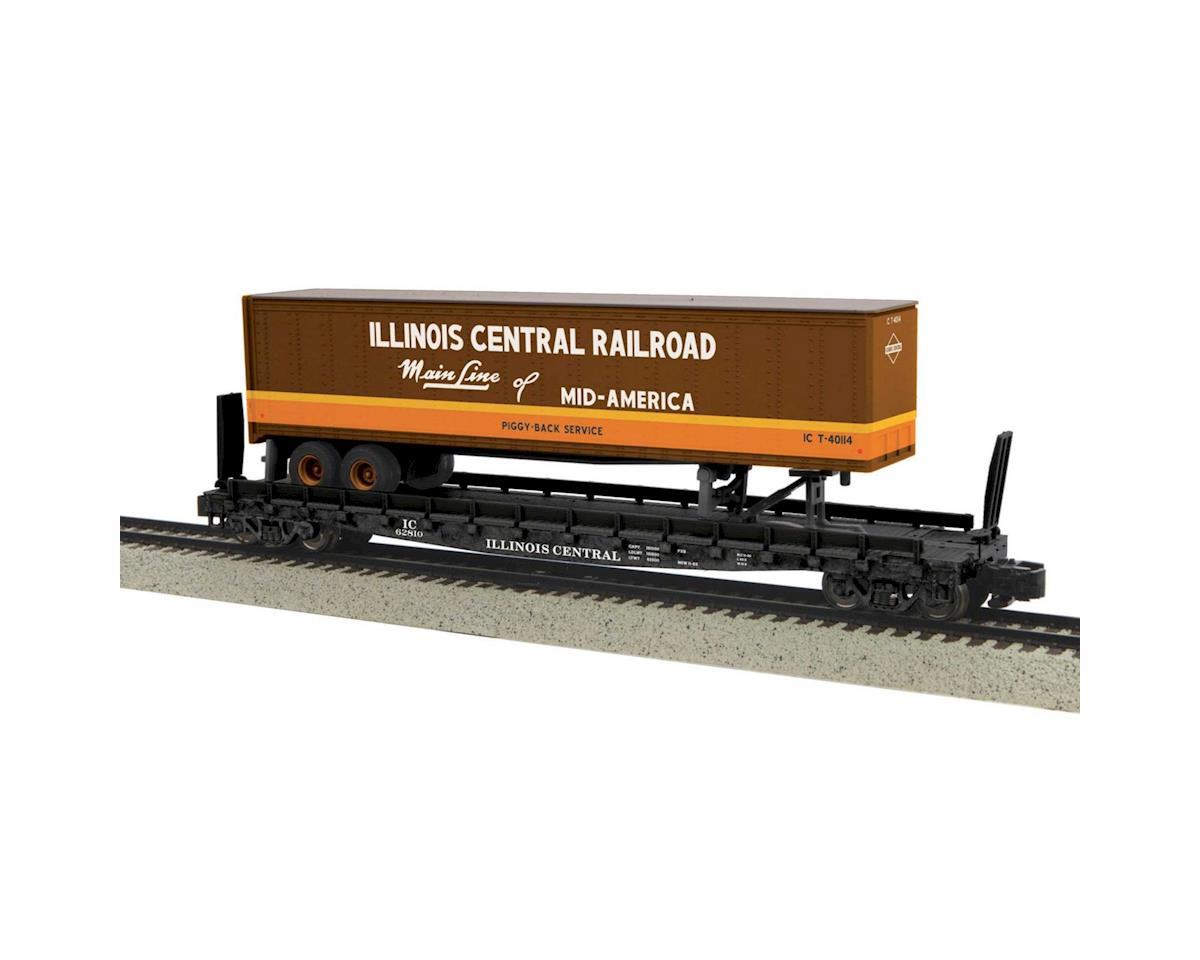 MTH Trains S Flat w/48' Trailer, IC #62810