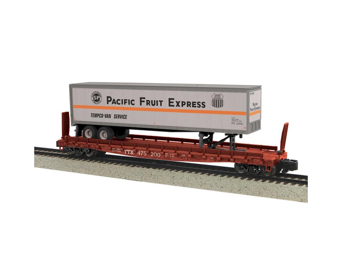 MTH Trains S Flat w/48' Trailer, PFE #475200