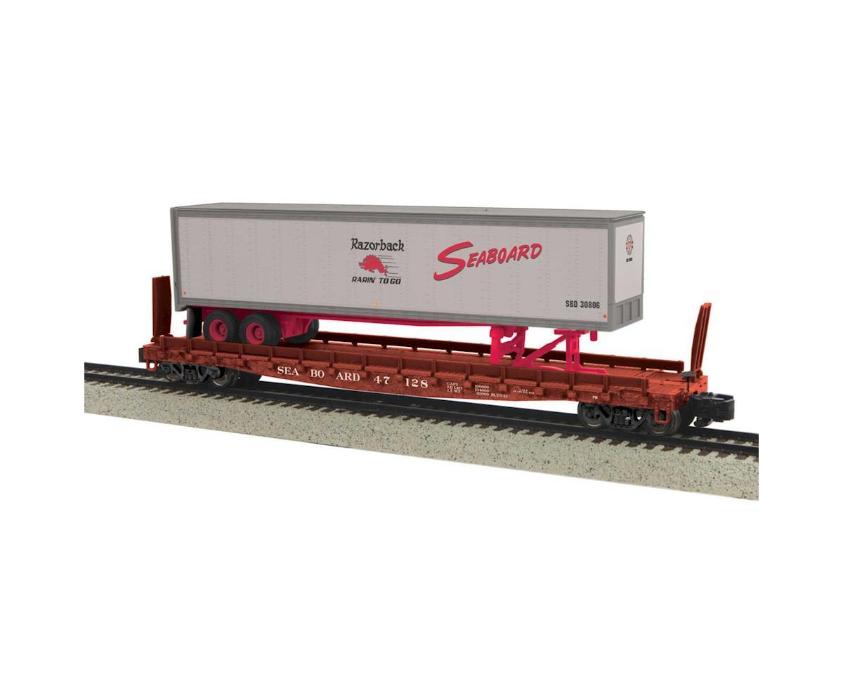 MTH Trains S Flat w/48' Trailer, SBD #47128