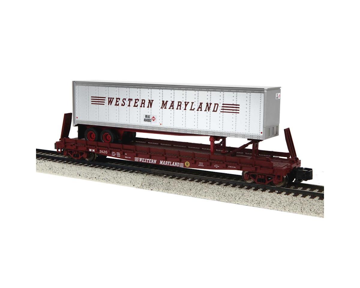 MTH Trains S Scale Flat w/48' Trailer, WM #2620