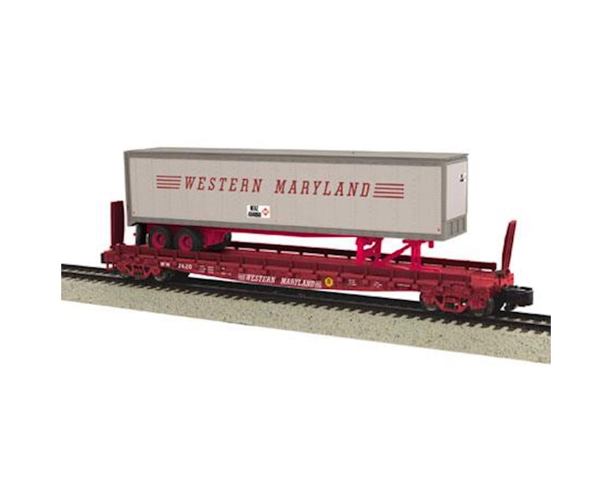 MTH Trains S Scale Flat w/48' Trailer, WM #2622