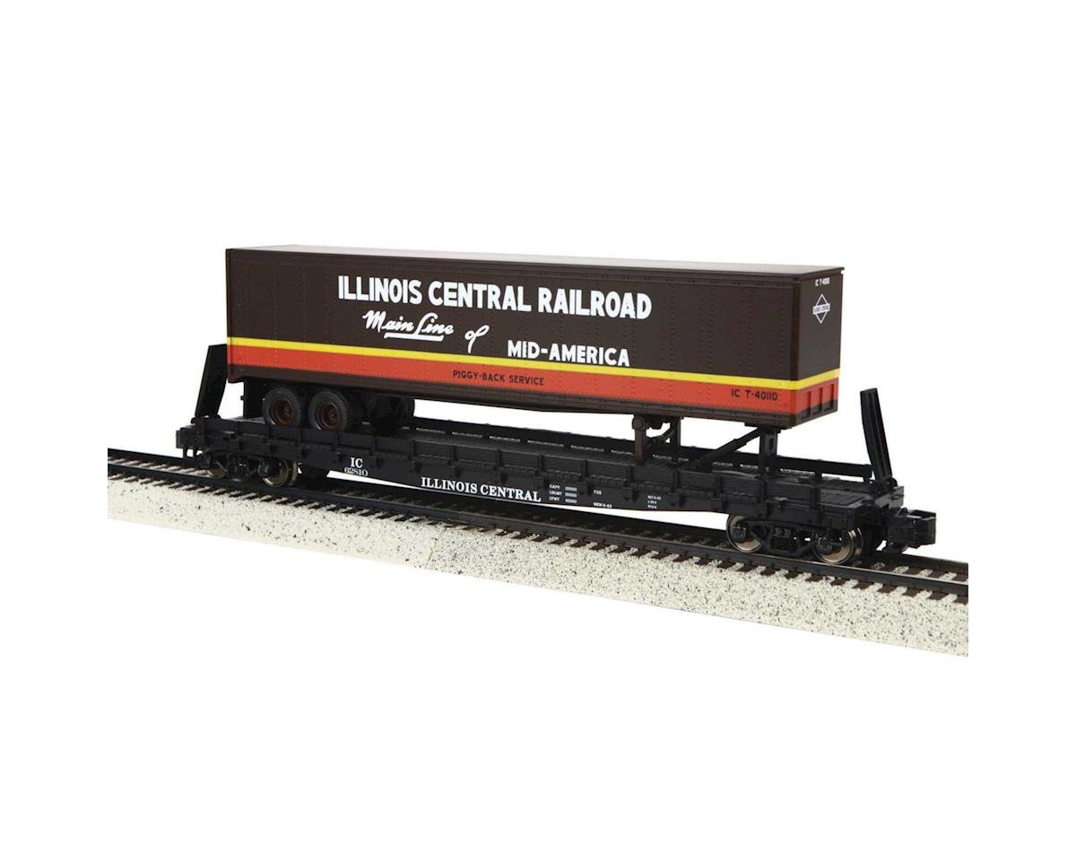 S Scale Flat w/48' Trailer, IC #62810 by MTH Trains