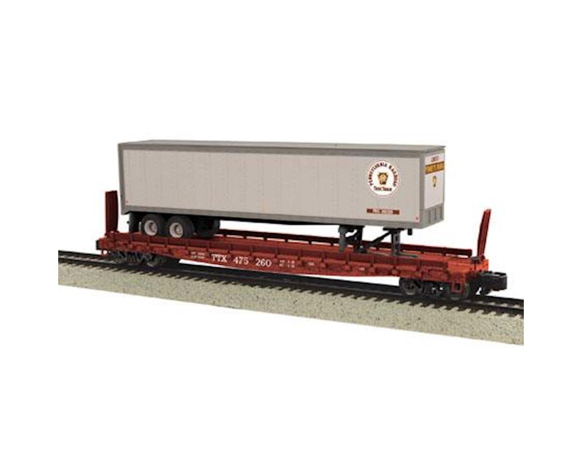 MTH Trains S Scale Flat w/48' Trailer, PRR #475260