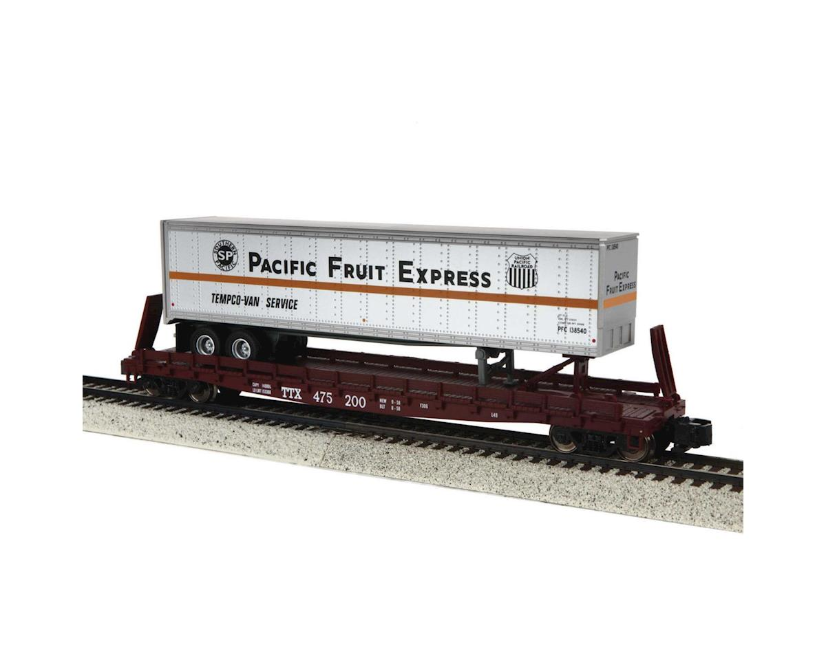 MTH Trains S Scale Flat w/48' Trailer, PFE #475200