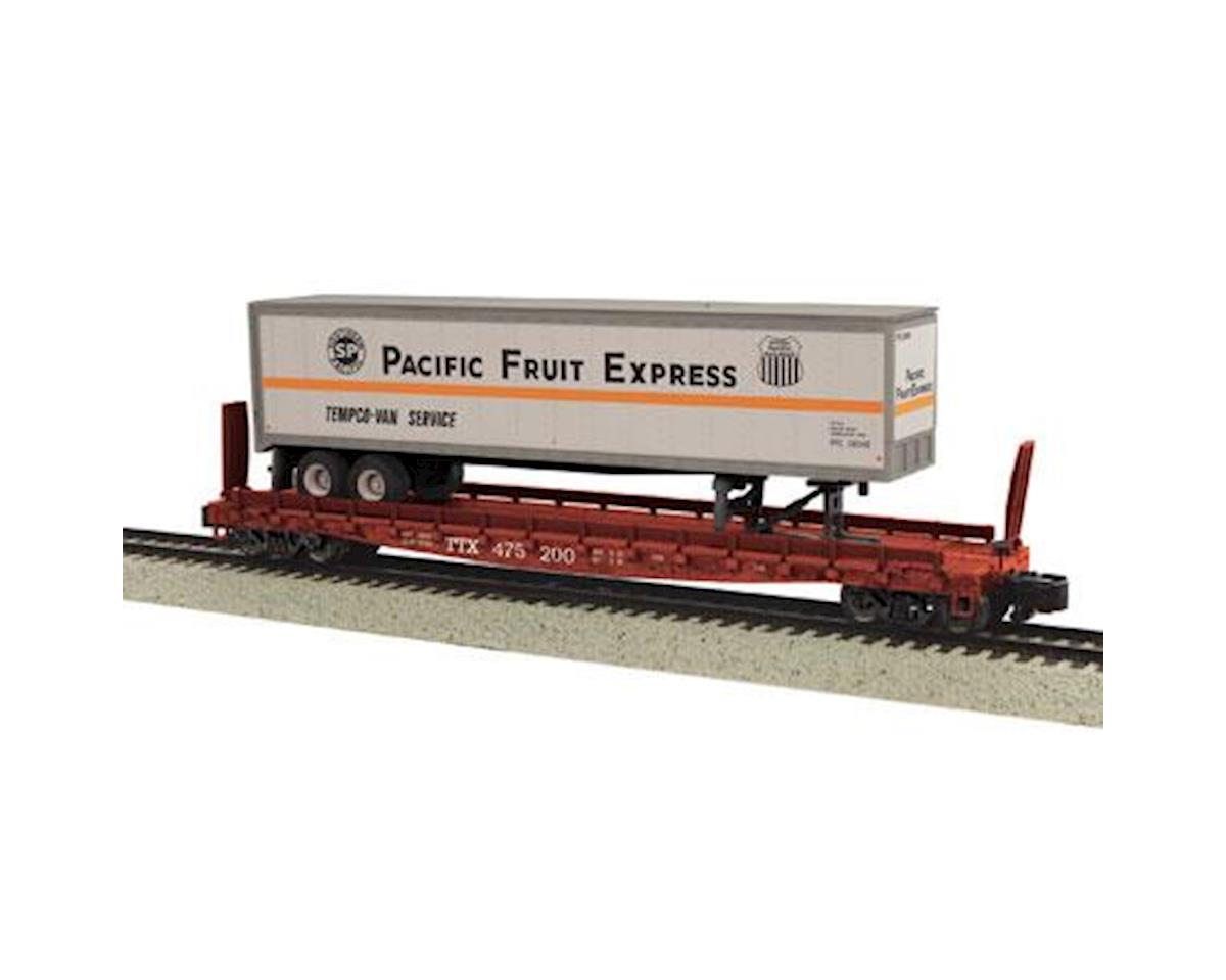 MTH Trains S Scale Flat w/48' Trailer, PFE #475205
