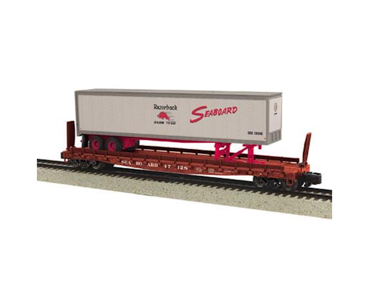 MTH Trains S Scale Flat w/48' Trailer, SBD #47126